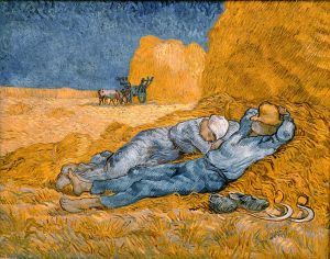 """Rest from Work"" by Van Gogh, Wikipedia Commons"