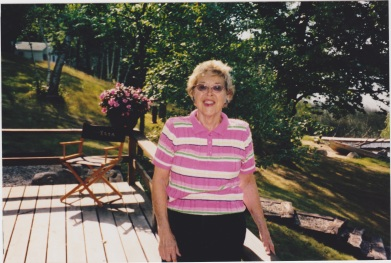 Aunt Marie at the cabin